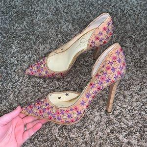 Jessica Simpson Claudetes Floral Pumps Size 8.5